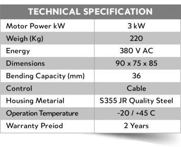 technical specification mbs36